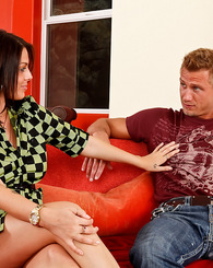 Nella Jay fucks her bestfriends brother Bill Bailey, so that he could take her out on the town.